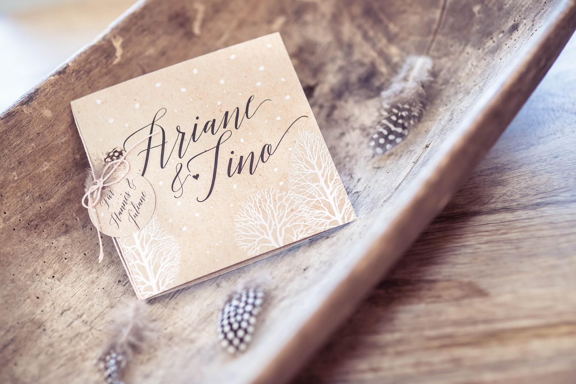 Klappkarte Ariane & Tino
