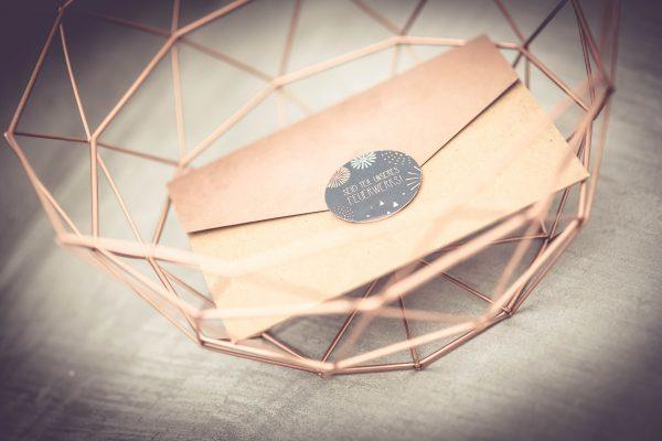 Pocketfold mit Kupferakzenten
